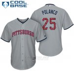 Camiseta Beisbol Hombre Pittsburgh Pirates 2017 Estrellas y Rayas Gregory Polanco Gris Cool Base