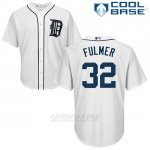 Camiseta Beisbol Hombre Detroit Tigers 32 Michael Fulmer Blanco Cool Base