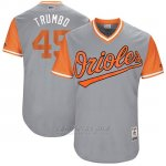 Camiseta Beisbol Hombre Baltimore Orioles 2017 Little League World Series 45 Mark Trumbo Gris