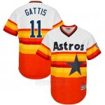 Camiseta Beisbol Hombre Houston Astros Evan Gattis Turn Back The Clock Naranja