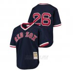 Camiseta Beisbol Nino Boston Red Sox 26 Wade Boggs Cooperstown Collection Mesh Batting Practice Azul
