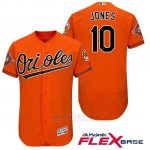 Camiseta Beisbol Hombre Baltimore Orioles 10 Adam Jones Naranja 2017 Flex Base