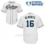 Camiseta Beisbol Hombre San Diego Padres Abraham Almonte 16 Blanco 1ª Cool Base