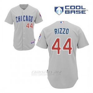 Camiseta Beisbol Hombre Chicago Cubs 44 Anthony Rizzo Gris Cool Base