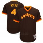 Camiseta Beisbol Hombre San Diego Padres Wil Myers Marron 1983 Turn Back The Clock