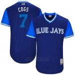 Camiseta Beisbol Hombre Toronto Blue Jays 2017 Little League World Series Chris Coghlan Royal