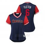 Camiseta Beisbol Mujer Los Angeles Angels David Fletcher 2018 Llws Players Weekend Fletch Azul