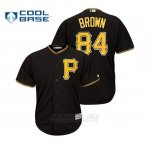 Camiseta Beisbol Hombre Pittsburgh Pirates Antonio Brown Cool Base Majestic MLB Crossover Negro