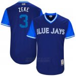 Camiseta Beisbol Hombre Toronto Blue Jays 2017 Little League World Series Ezequiel Carrera Royal