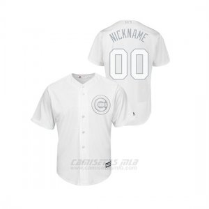 Camiseta Beisbol Hombre Chicago Cubs Personalizada 2019 Players Weekend Nickname Replica Blanco