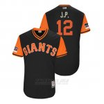 Camiseta Beisbol Hombre San Francisco Giants Joe Panik 2018 Llws Players Weekend J.p. Negro