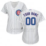 Camiseta Mujer Chicago Cubs Personalizada Blanco