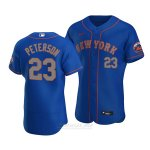 Camiseta Beisbol Hombre New York Mets David Peterson Autentico Alterno Azul