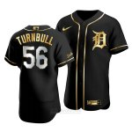 Camiseta Beisbol Hombre Detroit Tigers Spencer Turnbull Golden Edition Autentico Negro