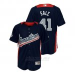 Camiseta Beisbol Nino All Star Game Majestic Chris Sale 2018 Primera Run Derby American League Azul