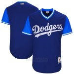 Camiseta Beisbol Hombre Los Angeles Dodgerss Players Weekend 2017 Personalizada Azul