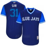 Camiseta Beisbol Hombre Toronto Blue Jays 2017 Little League World Series Joe Biagini Royal