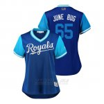 Camiseta Beisbol Mujer Kansas City Royals Jakob Junis 2018 Llws Players Weekend June Bug Royal