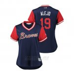 Camiseta Beisbol Mujer Atlanta Braves Anibal Sanchez 2018 Llws Players Weekend Alejo Azul