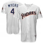 Camiseta Beisbol Hombre San Diego Padres San Diego Wil Meyers Turn Back The Clock Blanco