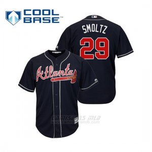 Camiseta Beisbol Hombre Atlanta Braves John Smoltz Cool Base Alternato 2019 Azul