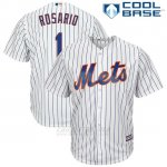 Camiseta Beisbol Hombre New York Mets 1 Amed Rosario Blancoplayer Cool Base