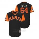 Camiseta Beisbol Hombre San Francisco Giants Derek Law 2018 Llws Players Weekend D Law Negro