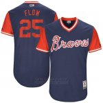 Camiseta Beisbol Hombre Atlanta Braves 2017 Little League World Series 25 Tyler Flowers Azul