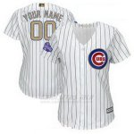 Camiseta Mujer Chicago Cubs Personalizada 2018 Blanco