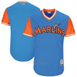 Camiseta Beisbol Hombre Miami Marlins Players Weekend 2017 Personalizada Azul 0098-th231umb.jpg