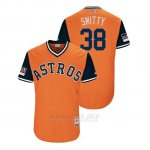 Camiseta Beisbol Hombre Houston Astros Joe Smith 2018 Llws Players Weekend Smitty Orange