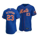 Camiseta Beisbol Hombre New York Mets David Peterson Alterno Autentico Azul