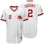 Camiseta Beisbol Hombre Cincinnati Reds 2 Zack Cozart Blanco Turn Back The Clock