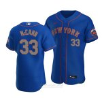 Camiseta Beisbol Hombre New York Mets James Mccann Autentico Alterno Azul