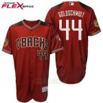 Camiseta Beisbol Hombre Arizona Diamondbacks 44 Paul Goldschmidt 2017 Entrenamiento de Primavera Flex Base
