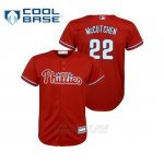 Camiseta Beisbol Nino Philadelphia Phillies Andrew Mccutchen Cool Base Replica Alternato Rojo