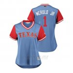 Camiseta Beisbol Mujer Texas Rangers Elvis Andrus 2018 Llws Players Weekend Merulo Jr Light Toronto Blue Jays