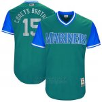 Camiseta Beisbol Hombre Seattle Mariners 2017 Little League World Series Kyle Seager Aqua