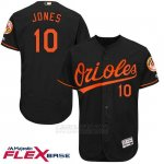 Camiseta Beisbol Hombre Baltimore Orioles 10 Adam Jones Autentico Coleccion Negro Flex Base