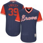 Camiseta Beisbol Hombre Atlanta Braves 2017 Little League World Series 39 Sam Freeman Azul