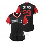 Camiseta Beisbol Mujer Arizona Diamondbacks Brad Ziegler 2018 Llws Players Weekend Unicorn Negro